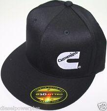 Cummins hat ball cap fitted flex fit flat bill flexfit stretch cummings ram s/m