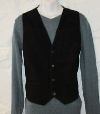 Black Suede & Other PARAGRAFF Button Cowboy Western Casual Waistcoats Size M