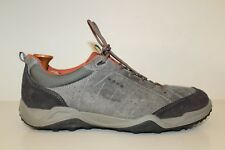 Ecco Mens Sneaker Shoes Size 10 - 11 / 44 Grey Nubuck Black Suede Leather