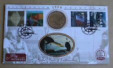 Workers's Tale 1999 Benham FDC + 1993 Gibraltar 2.8 ecus EUROTUNNEL coin
