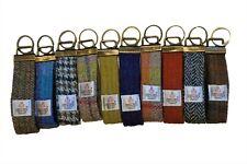 10 x Harris Tweed Keyring Fabric Hoop/Loop Key Ring Fob Gift Mens & Womens.....