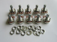 10x Audio 250K Electric Guitar Mini Pots Short Split Shaft Potentiometer A250K