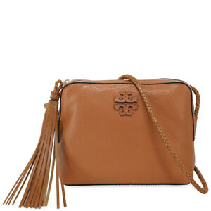 Tory Burch SlingBag Taylor Pebbled Leather Camera Crossbody Bag In Tan