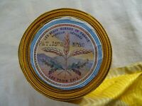 Antique French Unused Yellow Satin Ribbon Moire The Beautiful Ribbons France 10y