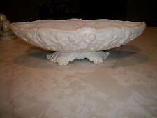 Beautiful Vintage INARCO 1962 White Cherubs Figurines Oval Dish / Planter
