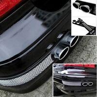 2PCS BLACK Universal Car Fake Exhaust Pipe Air Flow Intake Grille Fender Vent