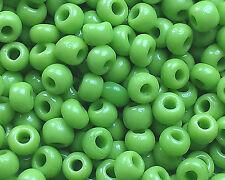 "Murano Italian Vtg Glass Seed Beads Size 11/0 "" APPLE GREEN "" Loose 50 Grams"