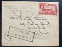 1939 Gibraltar Special Naval Rate Cover To Woodstock Canada