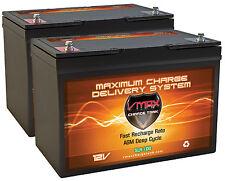 qty2 SLR100 AGM Solar Panel Smart Charger Deep Cycle VRLA 200 AH SLA 12v Battery