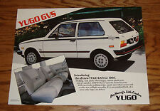 Original 1988 Yugo GVS Sales Sheet Brochure 88