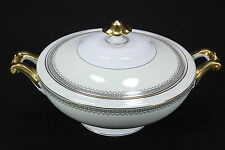 Thun Bohemia Czechoslovakia China Grecian Pattern Lidded Round Vegetable Bowl