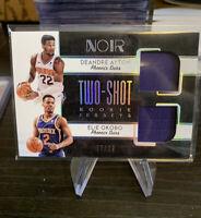 2018 NOIR Two-Shot ROOKIE Jerseys 77/99 Deandre Ayton & Elie Okobo SP