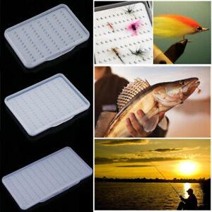 Super Slim Super Thin Fly Fishing Bait Box Plastic Magnetic Foam Design Clear
