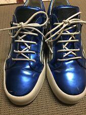 f5e389fcefc4 Giuseppe Zanotti Fashion Sneakers Blue Casual Shoes for Men for sale ...