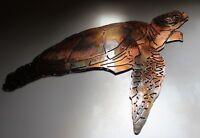 Aquatic Sea Turtle Metal Decor copper/bronze plated