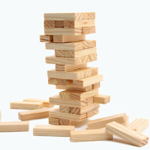 Tumbling tower wooden game outdoor family fun kids gift traditional blocks
