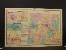 New York, Wayne County Map, 1874, Galen Township, Double Page, Y4#49