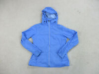 Columbia Jacket Womens Medium Blue Gray Full Zip Coat Hooded Hoodie Ladies A31*