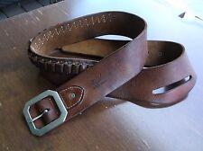 Vintage Hunter Western Brown XL Leather Drop Buscadero Slot Gun Belt .44