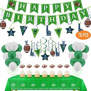 Football Theme SupperBowl Birthday Party Decorations 78pcs Disposable