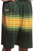 New Under Armour Men's L USF Bulls ArmourFuse Basketball Short Green/Yellow $80