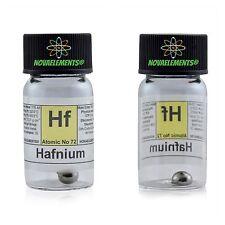 Hafnium metal element 72 Hf sample crystals 1 gram 99,99% in labeled glass vial