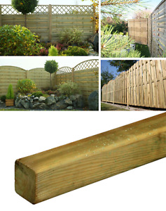 Smooth Planed Timber Wood Garden Fence Posts 70 & 90 mm 2500mmTreated Timber