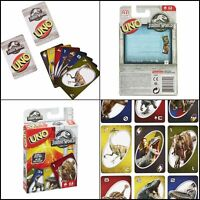 Jurassic World Uno Card Game Board Educational Children Kid Toy Fun Family Party