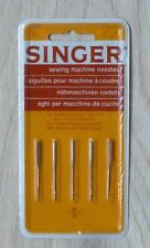 SINGER 2020 90/14 Sewing Machine Needles Pack of 5 for Woven Fabrics Only