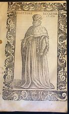 Elector of the Holy Roman Empire . Xilografía original.Vecellio, 1590