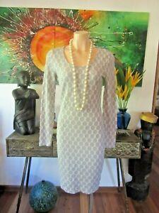 Metalicus Dress  White $ Grey Spot Size 10/12/14  Stretch