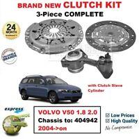 Para Volvo V50 1.8 2.0 Chasis A:404942 2004- > En Nuevo 3PC Kit de Embrague +