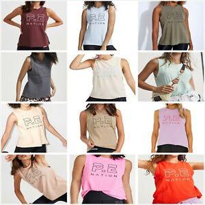 NEW**Pe Nation** Ladies Shuffle Twist Tank Tops Active wear Muscle Singlet Vest