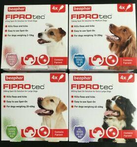 BEAPHAR FLEA DROPS FOR DOGS & PUPPIES SPOT ON TREATMENT KILLS FLEAS & TICKS