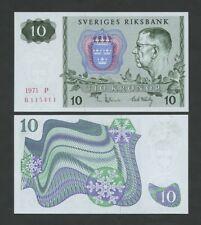 SWEDEN - 10 kronor  1971  P52c  Uncirculated  ( Banknotes )
