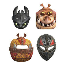 HOW TO TRAIN YOUR DRAGON 3 PAPER MASKS (8) ~ Birthday Party Supplies Favors
