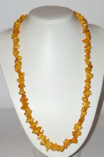 Old Amber Necklace Butterscotch? Amber Amber Necklace 44gr. Stones