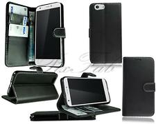For ZTE Blade A512 New Stylish Genuine Black Leather Wallet Phone Case Cover