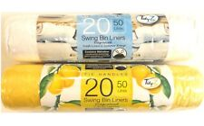 40 Scented 50 Litre Swing Bin Liners With Tie Handles Fresh Linen & Citrus