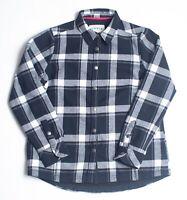 Ladies ORVIS Fleece Lined Flannel Shirt Jacket Medium Black White Black Plaid