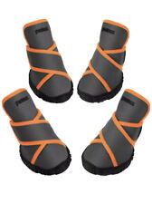 Pet Dog Shoes Petacc Dog Boots Waterproof Dog Shoes Size L Grey w/Orange Trim