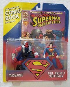 SUPERMAN MAN OF STEEL MASSACRE vs FULL ASSAULT SUPERMAN + COMIC BOOK