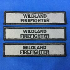 Wildland Firefighter Patches Gray With Black Embroidery (3 Patches) Item# P17-18
