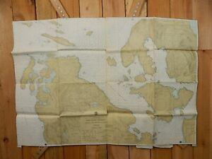 VINTAGE NOAA Nautical Chart SAN JUAN CHANNEL FRIDAY ROCHE HARB 45x31 Sailing Map
