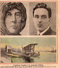 HYDRAVION LATHAM 02 EXPLORATEUR AMUNDSEN ET GUILBAUD SECOURS NOBILE IMAGE 1928