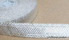 Braid Silver Rank Braid  Mossonic lace 25mm R882