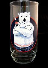 Coke Coca-Cola Polar Bear in Blue Jeans Juice Drink Glass Cup Design