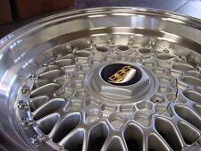 """15"""" RS Style Wheels 4x100 / 5x100 Silver Rims 2.75"""" Lip E30 Civic xB VW Scion"""
