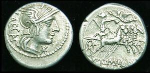 M.Porcius Laeca - Republic era Silver denarius