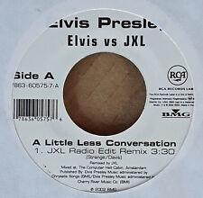ELVIS PRESLEY - LITTLE LESS CONVERSATION b/w ELVIS VS JXL - LITTLE LESS - 45 PRO